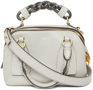 Chloé Daria Small Leather Top Handle Bag - Grey