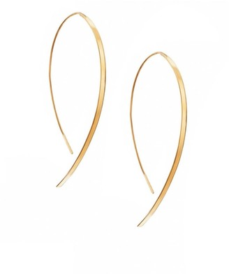 Lana Hooked On Hoop Small 14K Yellow Gold Flat Hook Earrings