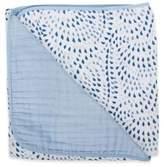 Bebe Au Lait Muslin Snuggle Blanket in Serenity/Sky