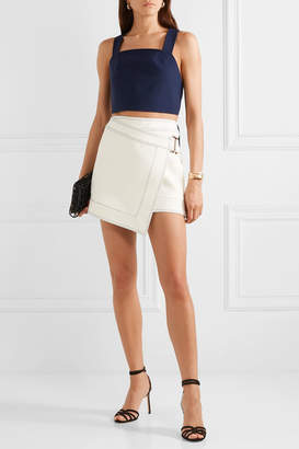 Dion Lee Asymmetric Crepe Mini Wrap Skirt - Ivory