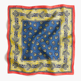 J.Crew Square silk scarf in vintage paisley