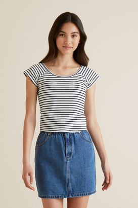 Seed Heritage Scoop Rib Top