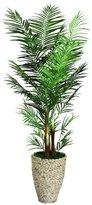 Laura Ashley VHX108209 90-Inch Areca Palm Tree in 16-Inch Fiber Stone Planter by