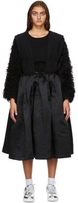 Comme des Garcons Black Ruched Suspender Dress