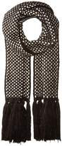 Cole Haan Chessboard Tuck Stitch Muffler