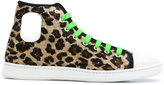 Marc Jacobs leopard-print velvet sneakers
