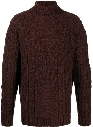 DSQUARED2 Deer Pattern Roll-Neck Jumper