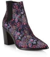 Schutz Happiness Printed Block Heel Booties