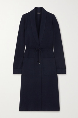 Loro Piana Belted Cashmere And Silk-blend Cardigan - Navy