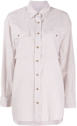 Closed Oversized Striped Cotton Shirt