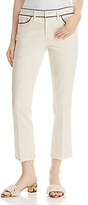 Tory Burch Sara Cropped Bootcut Jeans in Natural
