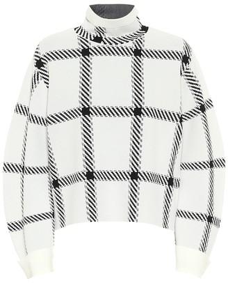 Stella McCartney Checked funnel-neck sweater