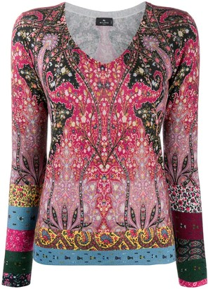 Etro Paisley Print Knitted Top
