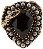 Alexander McQueen Teardrop Crystal Ring