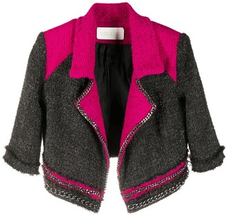 Loulou Chain-Embellished Knitted Blazer