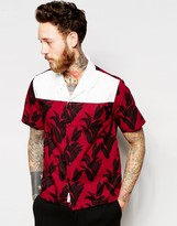Wood Wood Shirt With Revere Collar And Plantlife Print