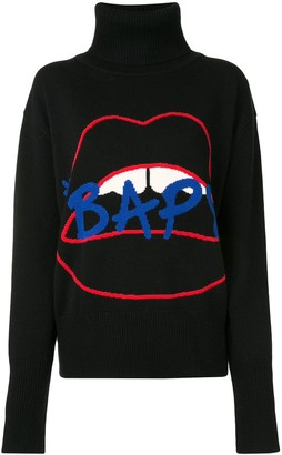Bapy By *A Bathing Ape® Lips intarsia knit jumper