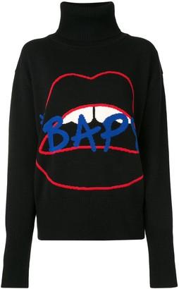 Bapy Lips intarsia knit jumper