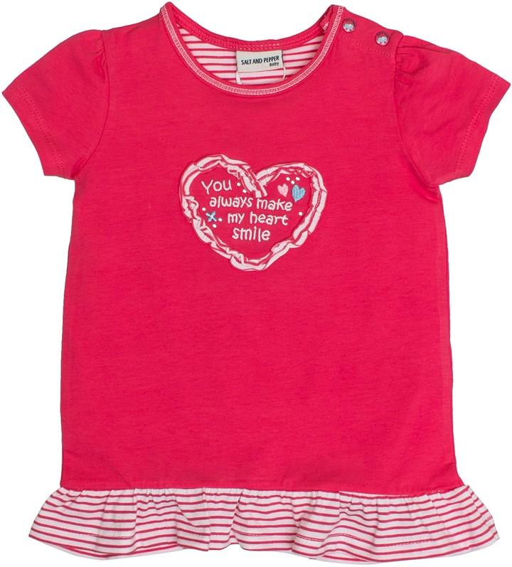 Salt&Pepper Salt and Pepper Baby Girls' B T-Shirt Love uni Ruschen