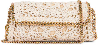 Stella McCartney Crochet Shoulder Bag in Butter Cream | FWRD