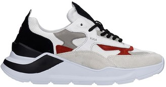 D.A.T.E Fuga Dandy Sneakers In White Leather And Fabric