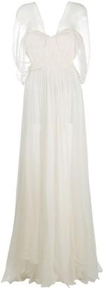 Maria Lucia Hohan Brigitte draped silk gown