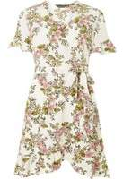 Dorothy Perkins Woivory Floral Print Fit And Flare Dress