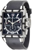 Edox Men's 01504 357N NIN Royale Retrograde Black Dial Watch