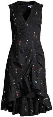 Parker Candy Ruched Floral Eyelet Dress