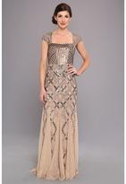 Adrianna Papell Cap Sleeve Bead Dress
