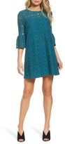 BB Dakota Women's Jesper Bell Sleeve Lace Shift Dress