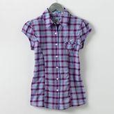 So® Ruffled Plaid Camp Shirt
