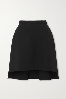 Alexander McQueen Asymmetric Wool-blend Crepe Mini Skirt - Black