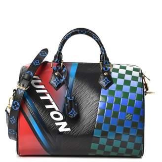 Louis Vuitton Speedy Bandouliere Epi Damier Race 30 Black Multicolor