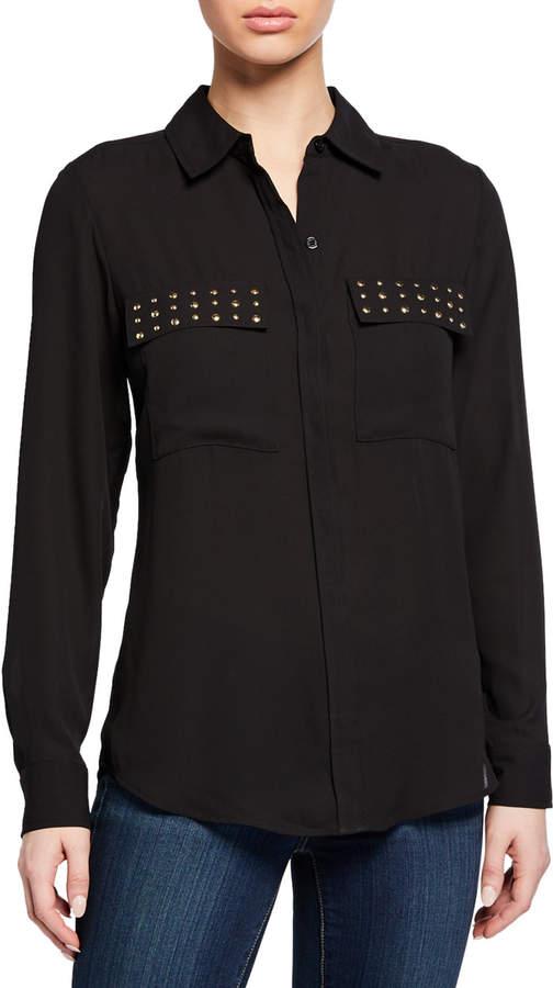 MICHAEL Michael Kors Studded Button-Down Shirt