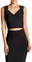 Wow Couture V-Neck Banded Cropped Tank