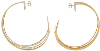 Y/Project Gold Deconstructed Hoop Earrings