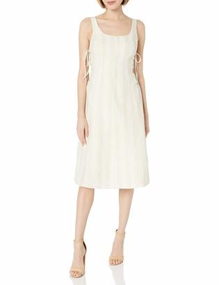 ASTR the Label Women's Elena Lace-up Striped Sleeveless Fit & Flare Linen Midi Dress