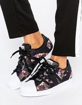 adidas X Farm Multi Leopard Print Superstar Sneakers