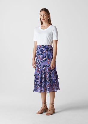 Josephine Print Frill Skirt