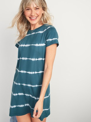 Old Navy Fitted Tie-Dye T-Shirt Dress for Women