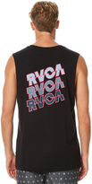 RVCA Electric Stack Mens Muscle Black