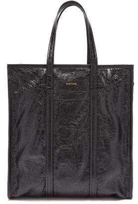 Balenciaga Bazar Shopper M Leather Bag - Mens - Black