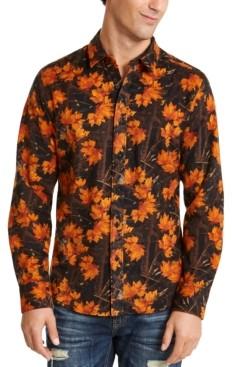 American Rag Men's Woodland Camo Flannel Shirt