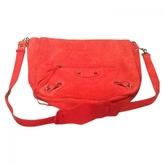 Balenciaga Red Suede Handbag
