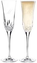 Waterford Lismore Essence Script Letter Monogram Toasting Flutes, Set Of 2