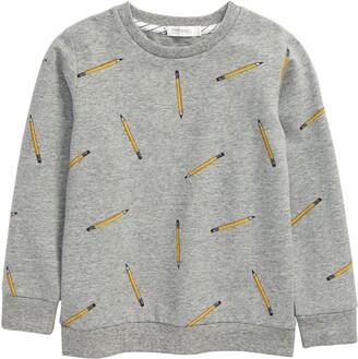 Miles Pencil Print Sweatshirt