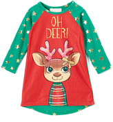 Red & Green 'Oh Deer!' Nightgown - Toddler
