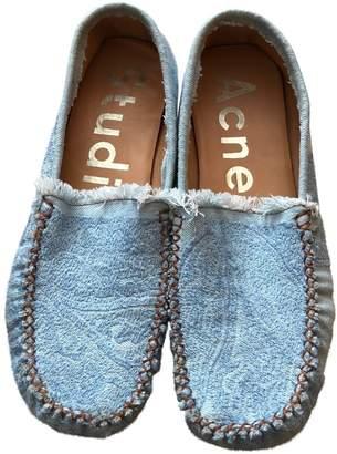 Acne Studios Blue Cloth Flats