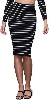 Good American Striped Midi Skirt - Inclusive Sizing